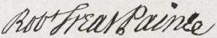 Robert Treat Paine Signature