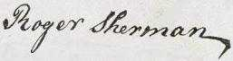 Roger Sherman Signature