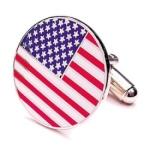 Round American Flag Cufflinks