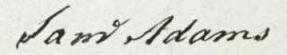 Samuel Adams Signature