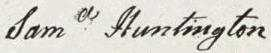 Samuel Huntington Signature