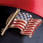 Genuine Sapphire Patriot Pin