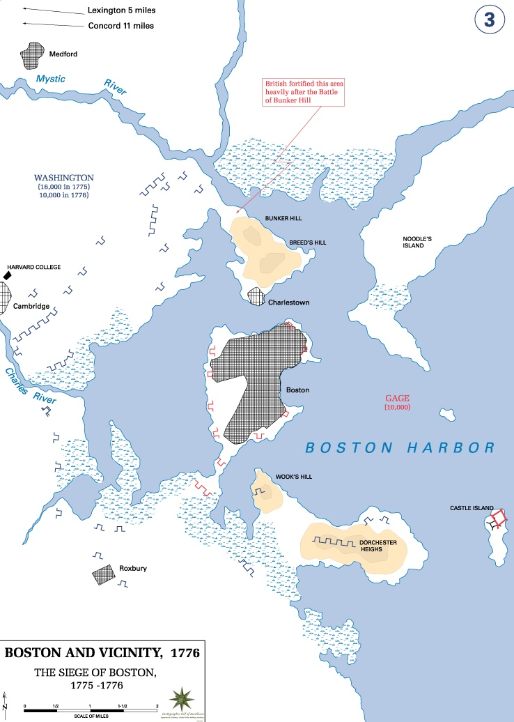 Siege of Boston Map