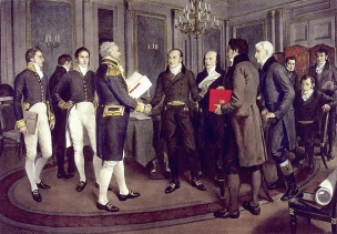 Signing of the Treaty of Ghent by Sir Amedea Forestier