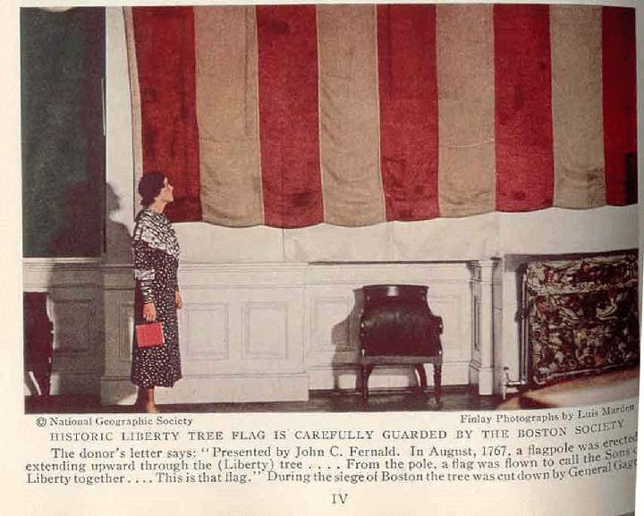 Sons of Liberty Flag, July 1936, National Geographic