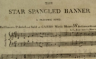 First Sheet Music issued of the Star Spangled Banner  by Thomas Carr in Baltimore in 1814
