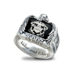 Sterling Silver and Onyx US Navy Ring