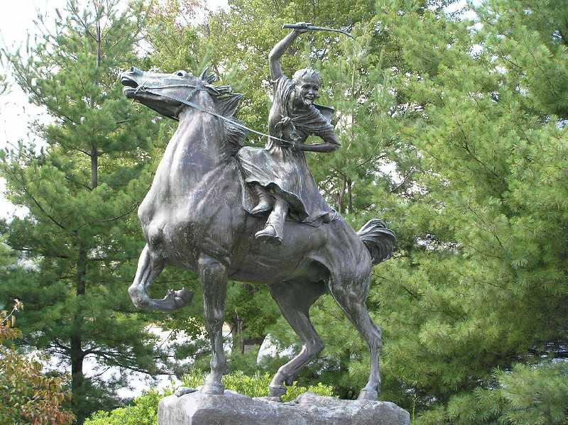 Sybil Ludington Statue, Carmel, New York