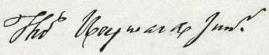 Thomas Heyward, Jr. Signature