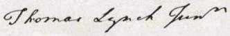 Thomas Lynch Jr. Signature