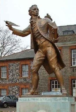 Thomas Paine statue, Thetford, Norfolk, England