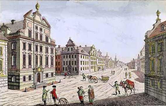 View of Town Hall Boston by Franz Xavier Habermann