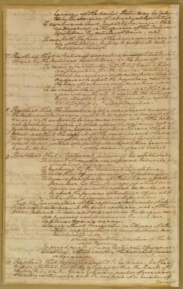 the objectives and impact of the virginia plan during the drafting of the new us constitution Obstacles to drafting new constitution during the  55 men who drafted the us constitution which of the following  virginia plan called for voting power.