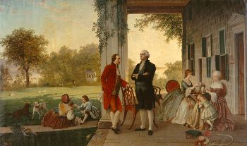 Washington and Lafayette at Mount Vernon, 1784 by Rossiter and Mignot