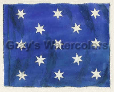 Washington's Commander-in-Chief Flag Watercolor