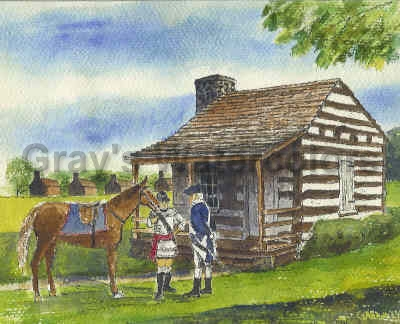 Washington's Headquarters, Cumberland, Maryland Watercolor