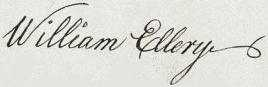 William Ellery Signature