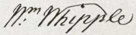 William Whipple Signature