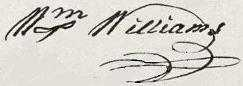 William Williams Signature
