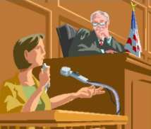 Witness on the stand