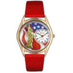 Women's Patriotic Gold Tone Watch