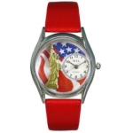 Women's Patriotic Silver Tone Watch