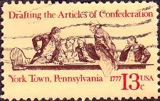 Drafting the Articles of Confederation Stamp, 1977