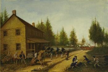 Battle of Cedar Bridge by Louis Glanzman