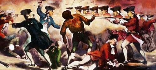 Boston Massacre Drawing