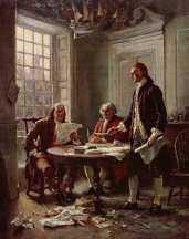 Committee of Five - John Adams, Benjamin Franklin, Thomas Jefferson