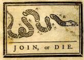 Join or Die Cartoon by Benjamin Franklin