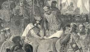 King John signing Magna Carta - 1215