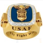 US Air Force Ring - Fly Fight Win