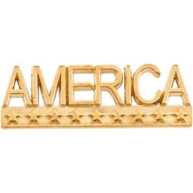 14k Yellow Gold America Lapel Pin
