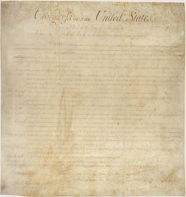 Original Bill of Rights