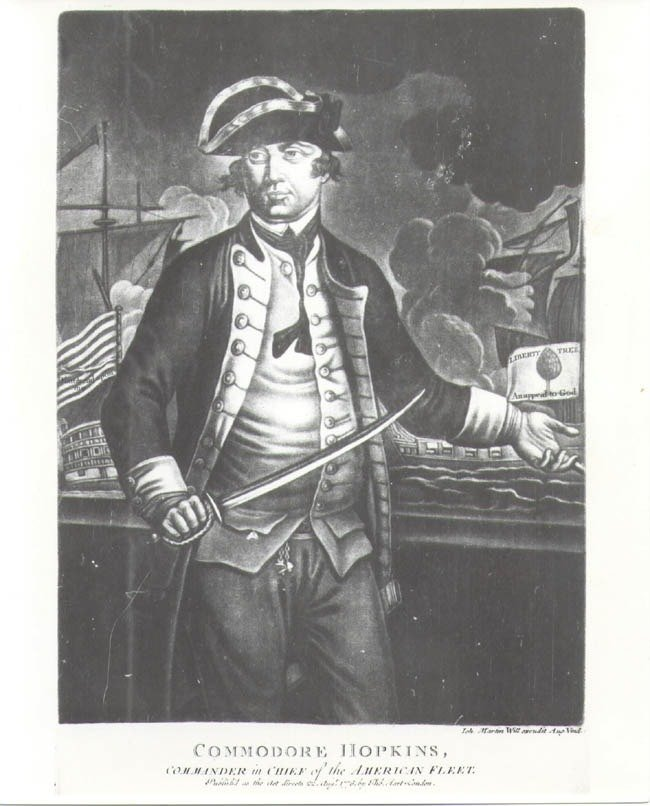 Commodore Esek Hopkins by Thomas Hart