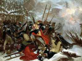 Death of General Richard Montgomery on 31st December 1775 by Alonzo Chappell