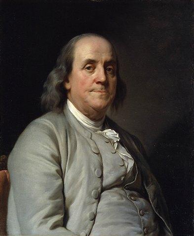 Benjamin Franklin Portrait by Joseph-Siffrein Duplessis