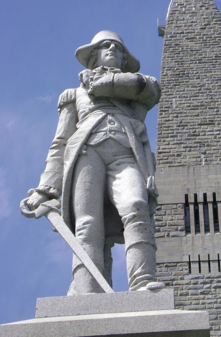 Seth Warner Statue, Battle of Bennington Monument, Bennington, Vermont