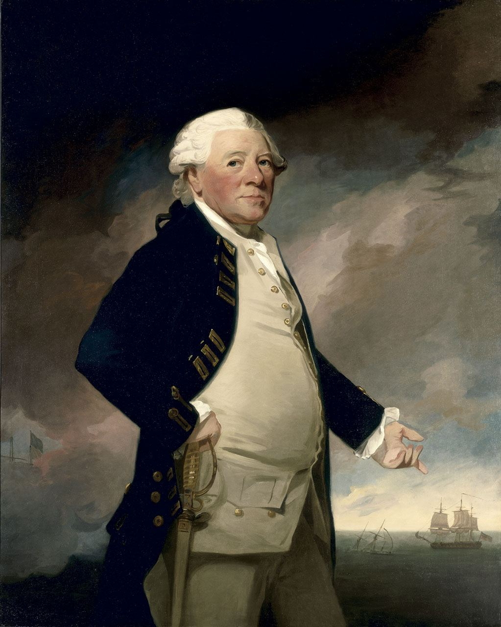Admiral, Sir Hyde Parker by George Romney