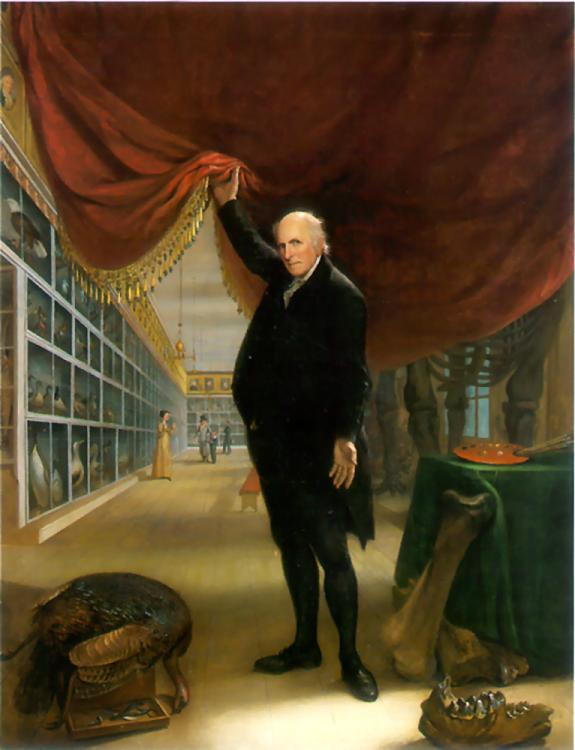 The Artist in His Museum, Self-Portrait by Charles Willson Peale