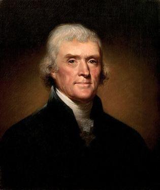 Thomas Jefferson Portrait by Rembrandt Peale