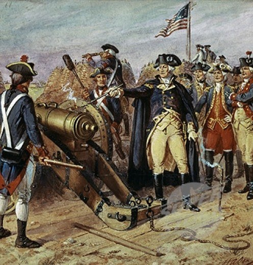 Washington firing the first gun at the Siege of Yorktown by Henry Alexander Ogden
