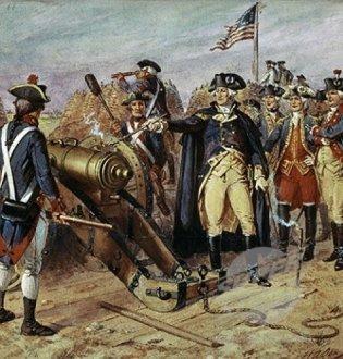 Washington firing the first gun at the Siege of Yorktown by Henry Alexander Ogden