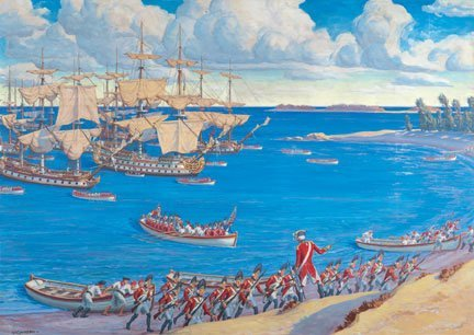 British landing at Cedar Point  by Robert Penn Lambdin