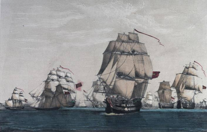 The Action of 9 August 1780 by Vallejo