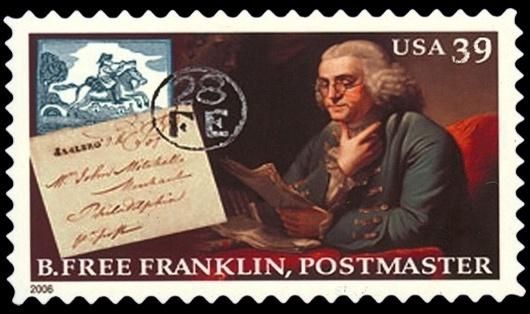 B Free Franklin stamp, 2006