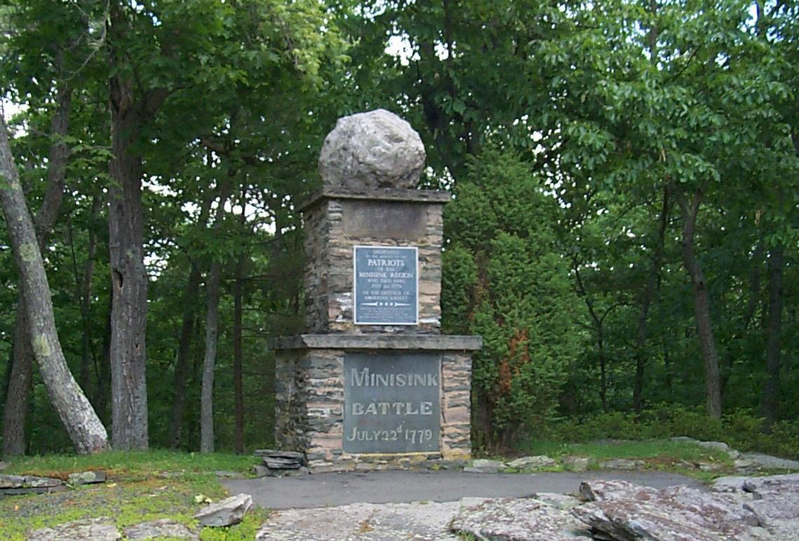 Battle of Minisink Memorial at the Minisink Battleground Park in Highland, New York