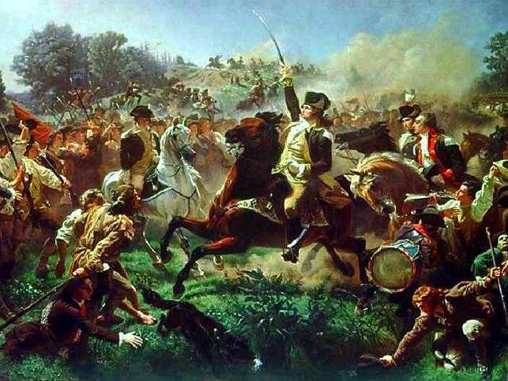 Battle of Monmouth by Emanuel Leutze