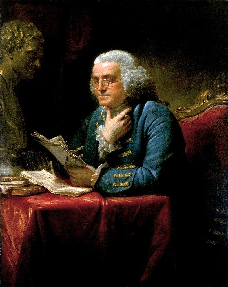 Benjamin Franklin Portrait by David Martin